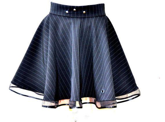 Black circle skirt Vampire  skirt Black gothic by Blackpassion