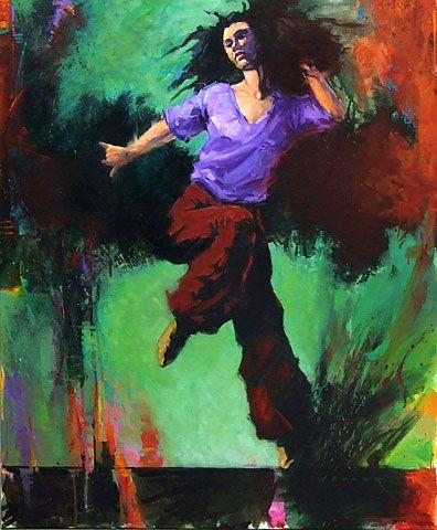 New Zealand Portrait and figurative Artist Paul Hooker | New 2013 Dancer 4 Acrylic on Canvas 76cm x 91cm
