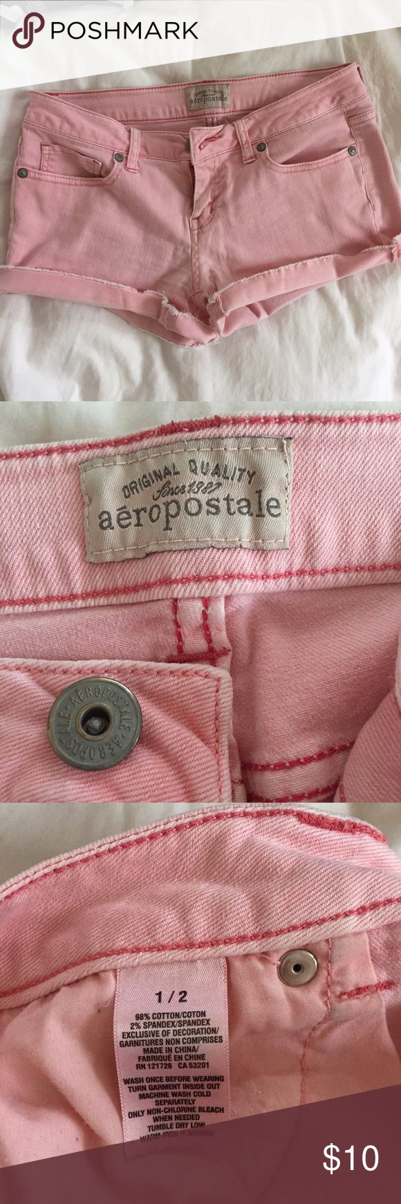 Aeropostale Light Pink Shorts Size 1/2 Adorable Aeropostale pink shorts that were previously loved but they don't fit me well anymore. SIZE 1/2 Aeropostale Shorts