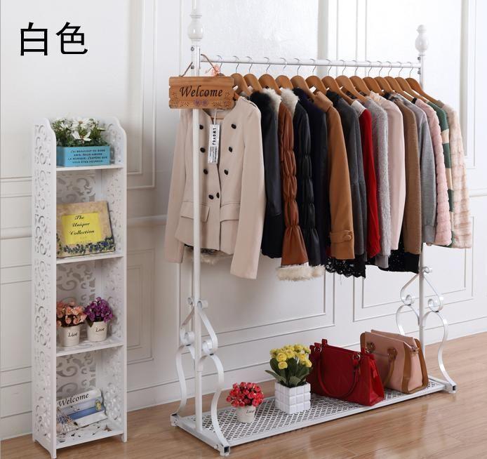 Cheap Clothing Store Racks Shelf Iron Clothing Rack Floor