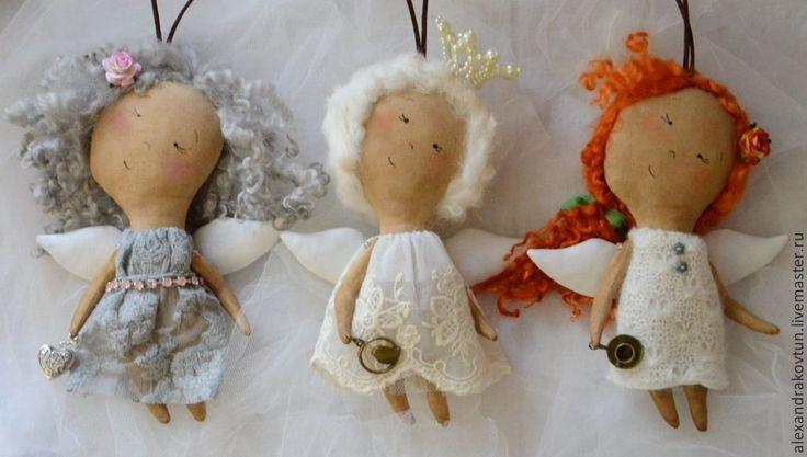Летние феечки - бежевый,текстильная кукла,ароматизированная кукла,кофейная игрушка