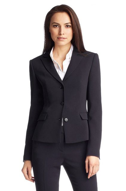 High quality Custom made Suits New 2017 Navy Uniform designs Womens Business Suits Formal Office Suits for Ladies