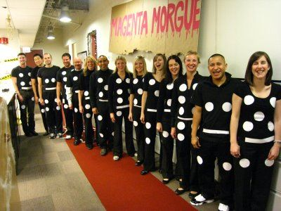 Dominoes!  Halloween costume concept This would be cute for a grade level of teachers to do