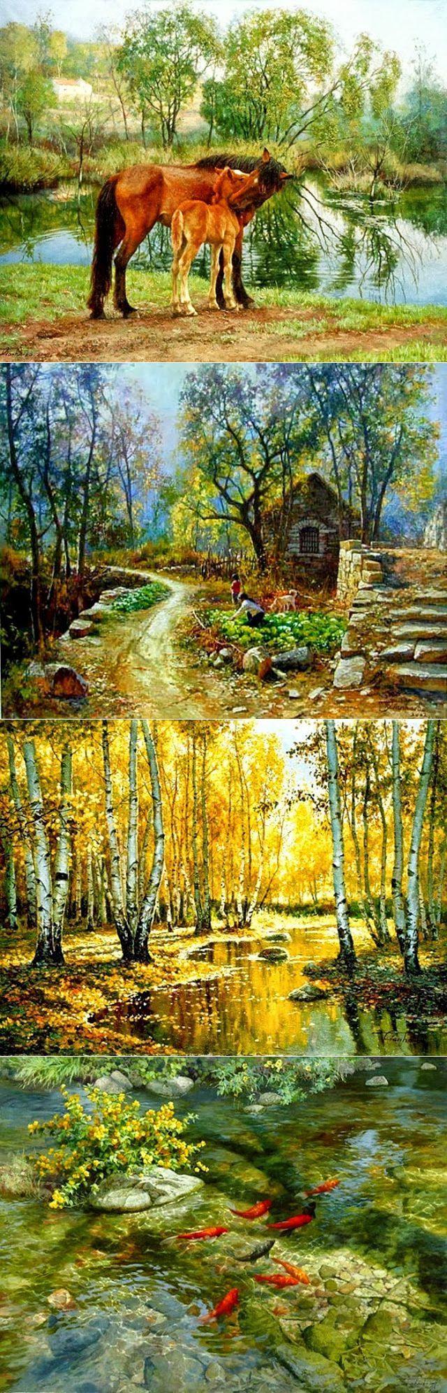 Добрая, солнечная живопись Tian Haibo | Современное искусство | искусство | Постила