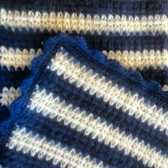 Zigzag crochet edging, free crochet pattern