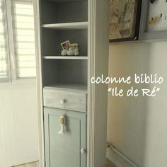 biblioth que tag re relook e vaisselier meuble de rangement relook deco bord de mer patine. Black Bedroom Furniture Sets. Home Design Ideas