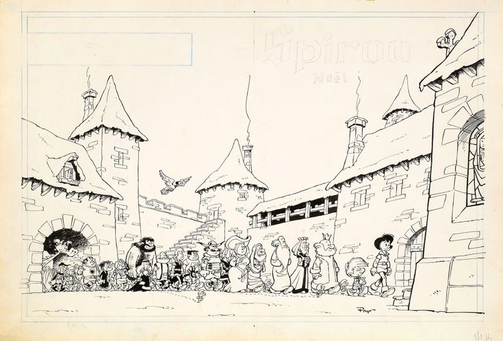 PEYO - JOHAN ET PIRLOUIT Comic Art