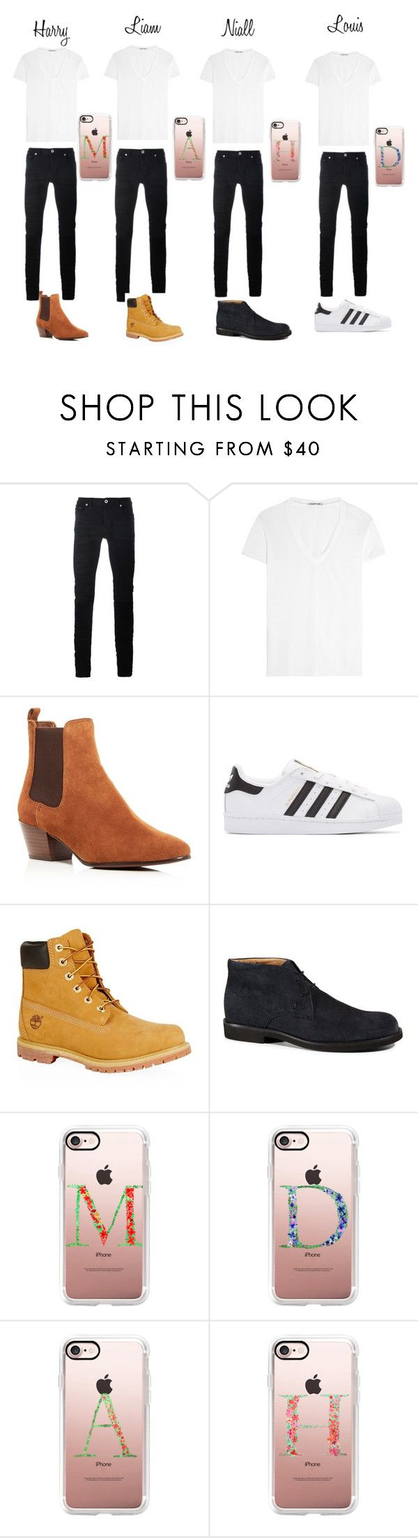 """""""Boys matching outfits -Redemption"""" by mrs-amber-styles1994 ❤ liked on Polyvore featuring Diesel Black Gold, Helmut Lang, Sam Edelman, adidas Originals, Timberland, Tod's, Casetify, men's fashion and menswear"""