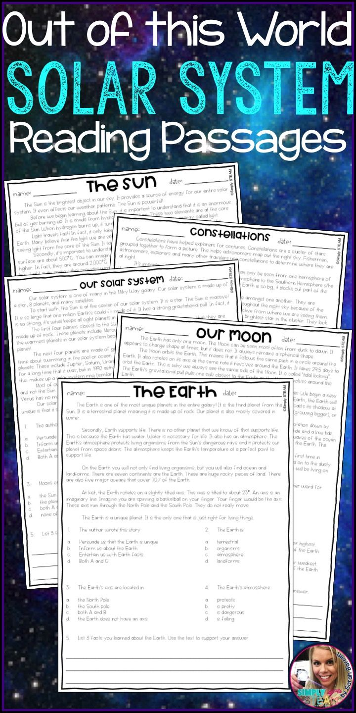 Solar System Reading Passages Are Excellent For 3rd Grade Students These Printables Teach Stude Reading Passages Science Reading Passages Solar System Lessons