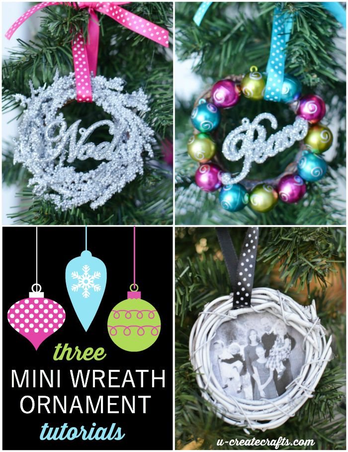 Mini Wreath Ornament Tutorials by U Create