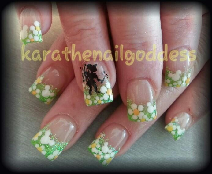 Tinkerbell Nails Dis Is How You Do Dat Onna Nail Pinterest