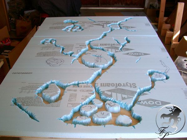CoolMiniOrNot Forums - gaming table. Lava table, could be used to make a sunken swamp table as well.