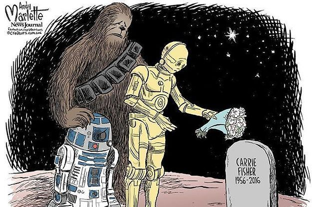 To our princess may you never forget about the galaxy far far away Rest In Peace Carrie Fisher