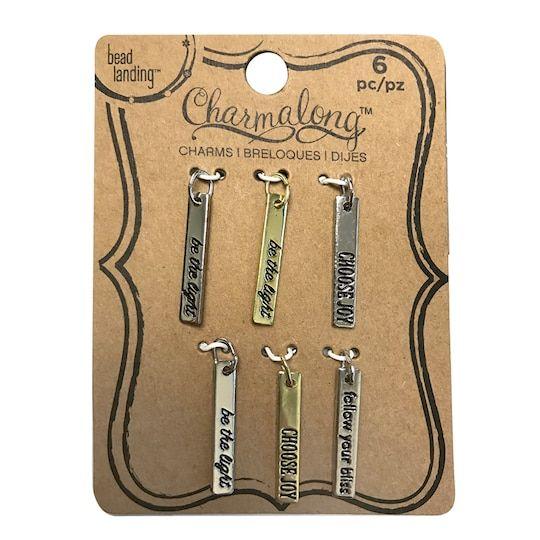 Charmalong C Rhodium Slide Bangles By Bead Landing C Bangles Jewelry Beads