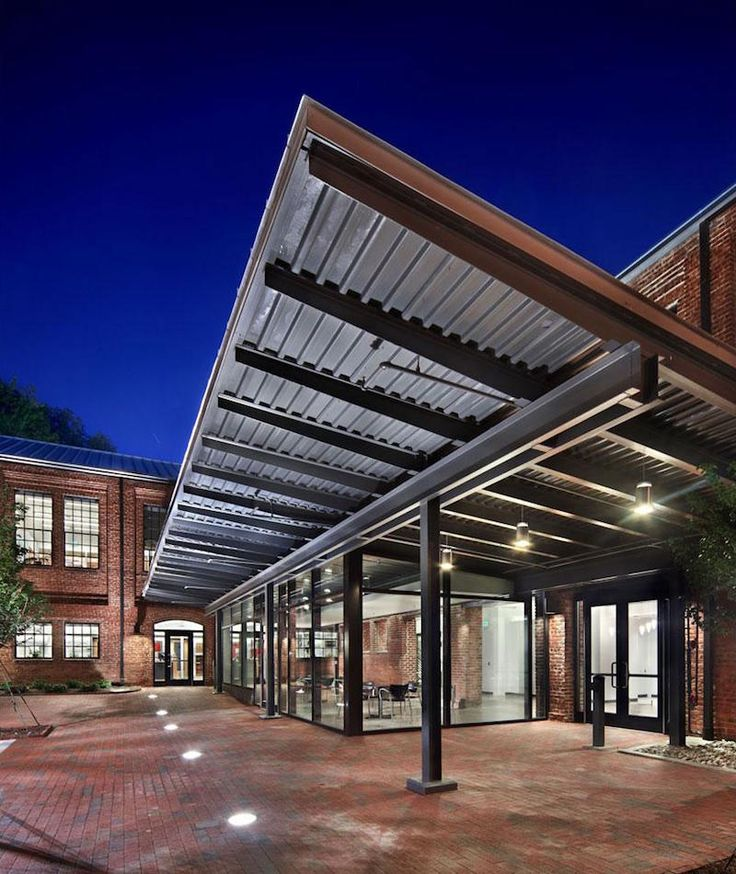 Brick Courtyard - Converted Warehouse - Adaptive Reuse - Modern Industrial - Historic Restoration