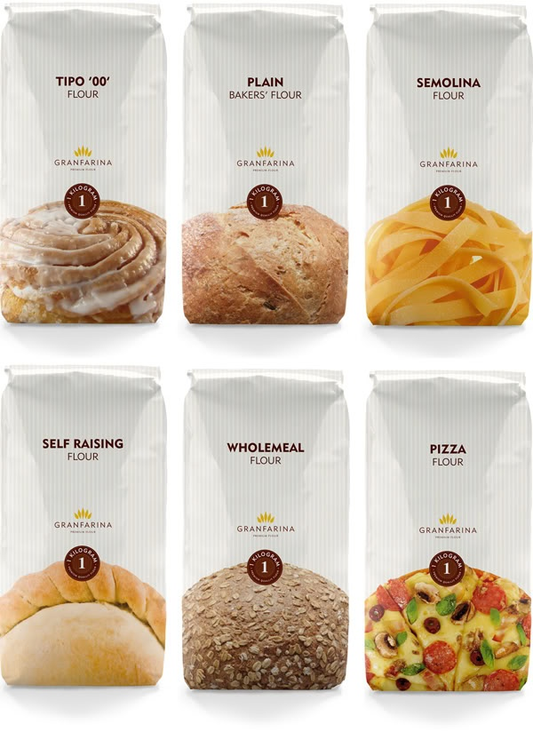 Simple and Clear Flour Packaging!                                                                                                                                                                                 More