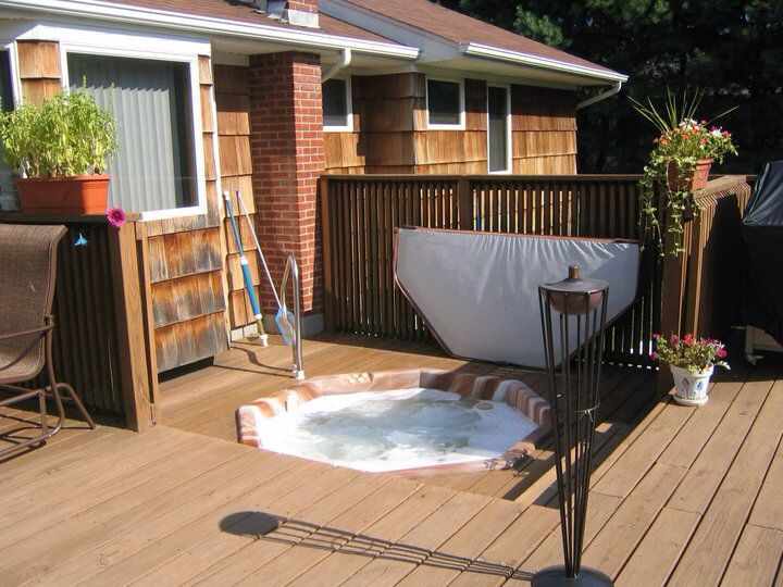 hot tub deck summer kitchen in full finished basement must see www