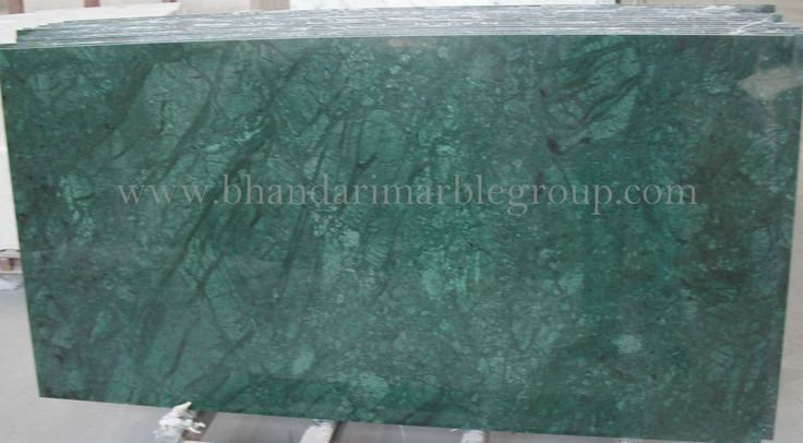 Dark Green marble is a very good looking & good quality of marble from India . There are many uses of this marble such as counter tops, wall cladding, table top, floor designs, kitchen top and many other. The Marbles available with us is processed by latest machinery. we are showing you product with its Details.