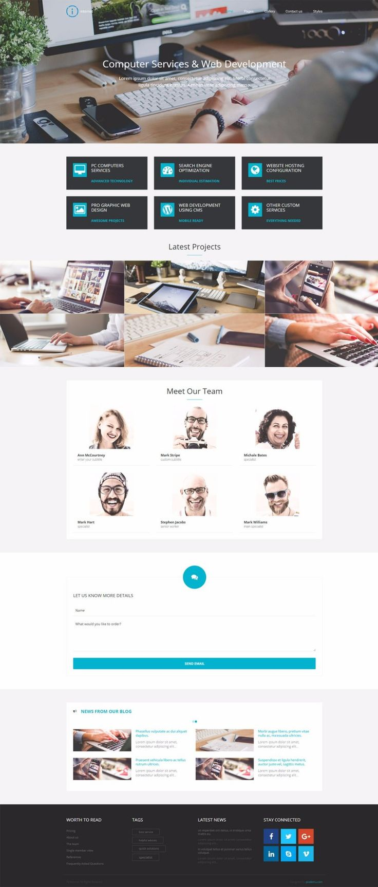 PE Internet - simple business WordPress theme perfect for companies that offer specific computer services for customers.  #business #WordPress #computer #theme #services https://www.pixelemu.com/wordpress-themes/i/14-internet