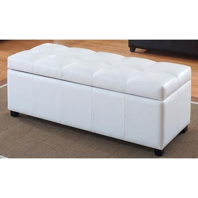 Tundra Ottoman - White   Deep storage ottoman is great as a coffee table or extra seating anywhere in the home.