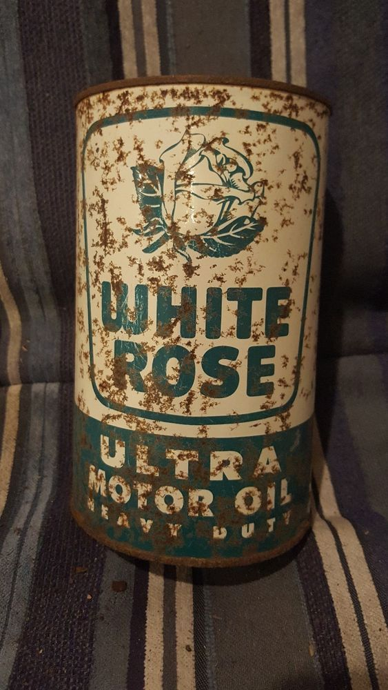 white rose oil can RARE imperial quart tin sign canada canadian | Collectibles, Advertising, Gas & Oil | eBay!