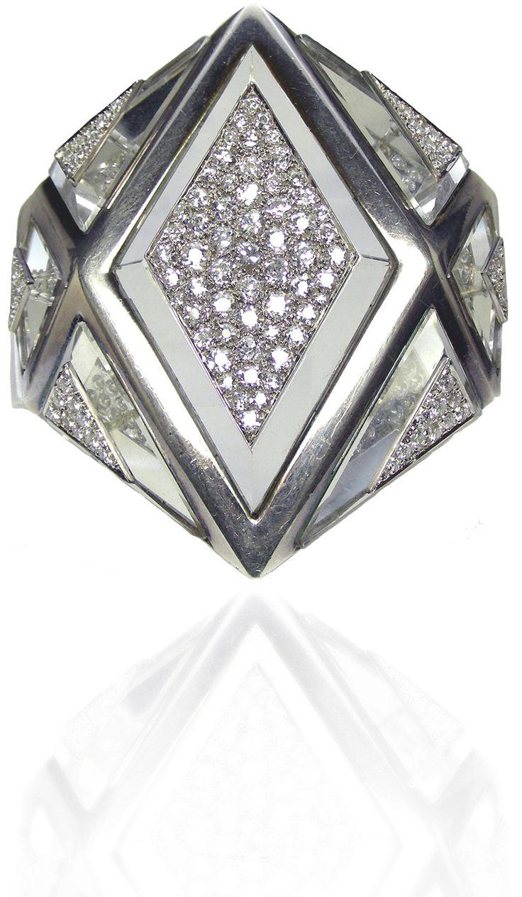 A Diamond Rock Crystal Cuff by Suzanne Belperron