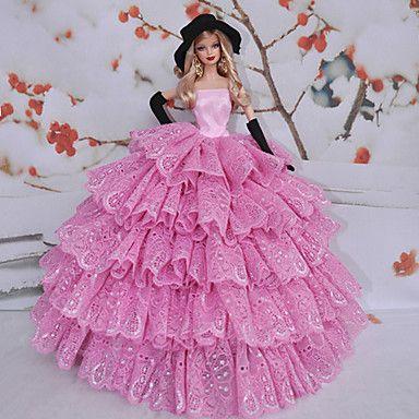 Barbie Doll Cisne Reina Vino rojo del cordón de princesa Dress 1338313 2016 – €7,563.00