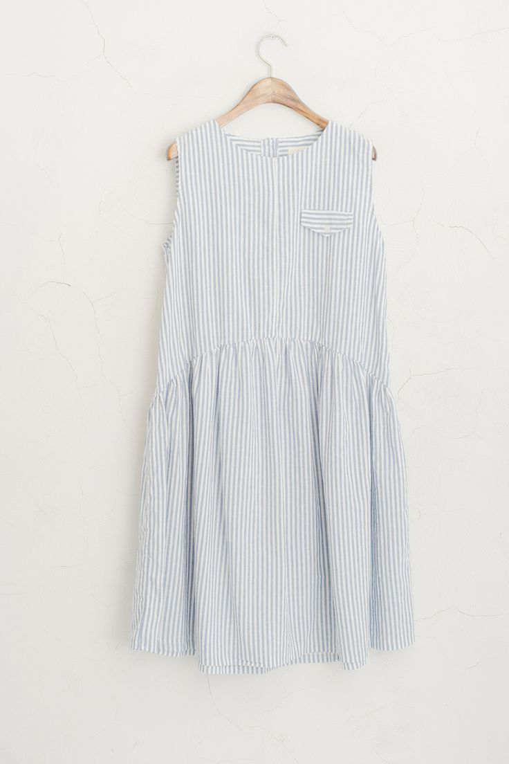 Olive - Vertical Striped Sleeveless Dress, Sky Blue, £59.00 (http://www.oliveclothing.com/p-oliveunique-20150608-039-sky-blue-vertical-striped-sleeveless-dress-sky-blue)