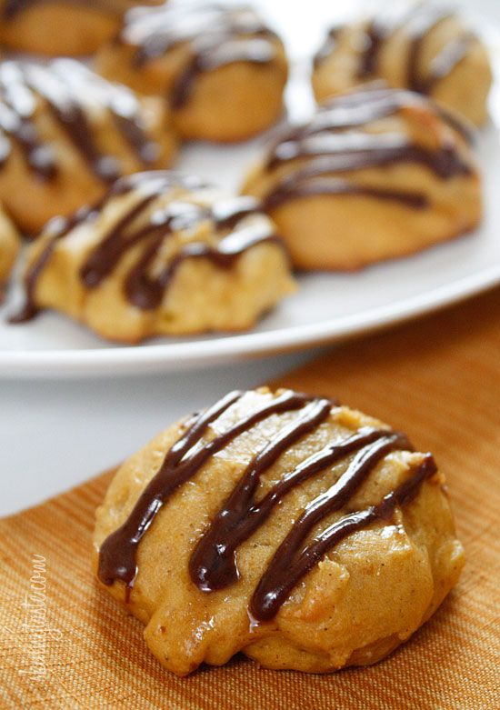 Pumpkin Spice Cookies with Chocolate Glaze...this chick has AWSOME recipes and they have the nutrition AND weight watchers points! :)   Skinnytaste