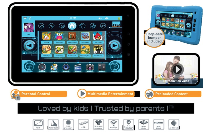 Kurio7 With EIGHT Parental Controls + educational games