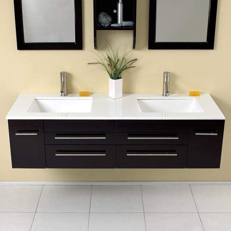 Fresca Bellezza 59 inch Espresso Double Sink Vanity FVN6119UNS