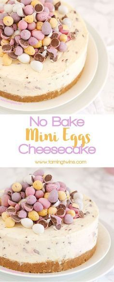 No-Bake Mini Eggs Cheesecake