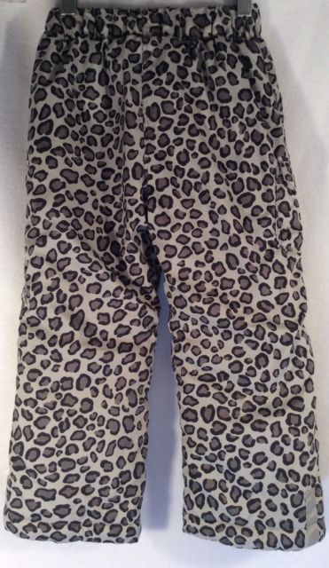 HANNA ANDERSSON Girls Ski Snow Pants Sz 100cm 3-5 Yrs Black Leopard Winter size | eBay