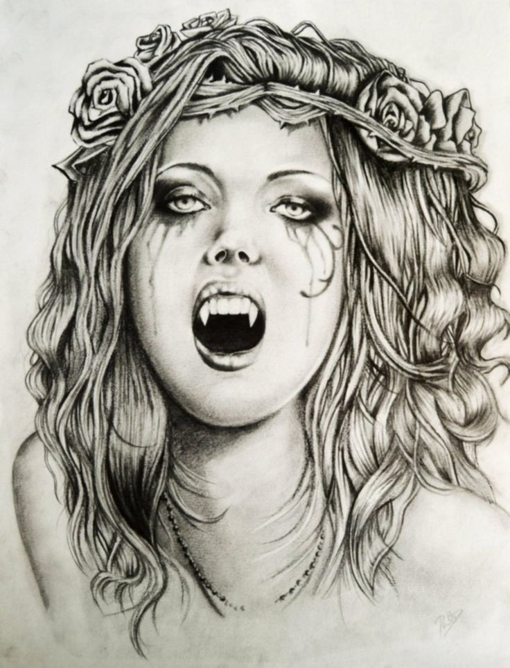 Vampire drawings in pencil