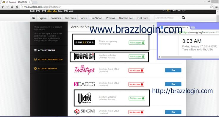 Brazzer account facebook