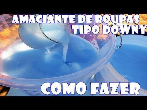 Como fazer AMACIANTE DE ROUPA TIPO DOWNY (Base fria) com Fran Adorno - YouTube