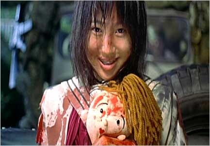 Still from Japanese tween thriller 'Battle Royale' (Before there was the Hunger Games, there was, Battle Royale.)