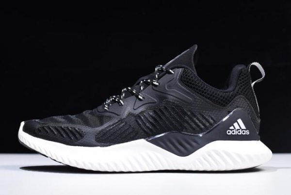 5b39dac443cea 2018 Mens adidas AlphaBounce Beyond Black White Shoes For Sale