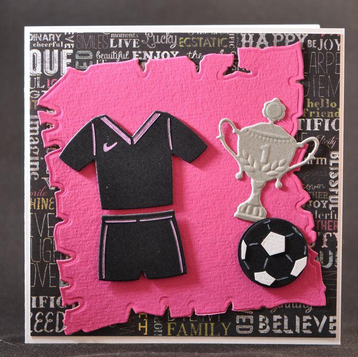 voetbalkaart voor jongen of meisje