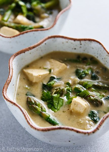 Vegan Thai Green Curry with Vegetables and Tofu