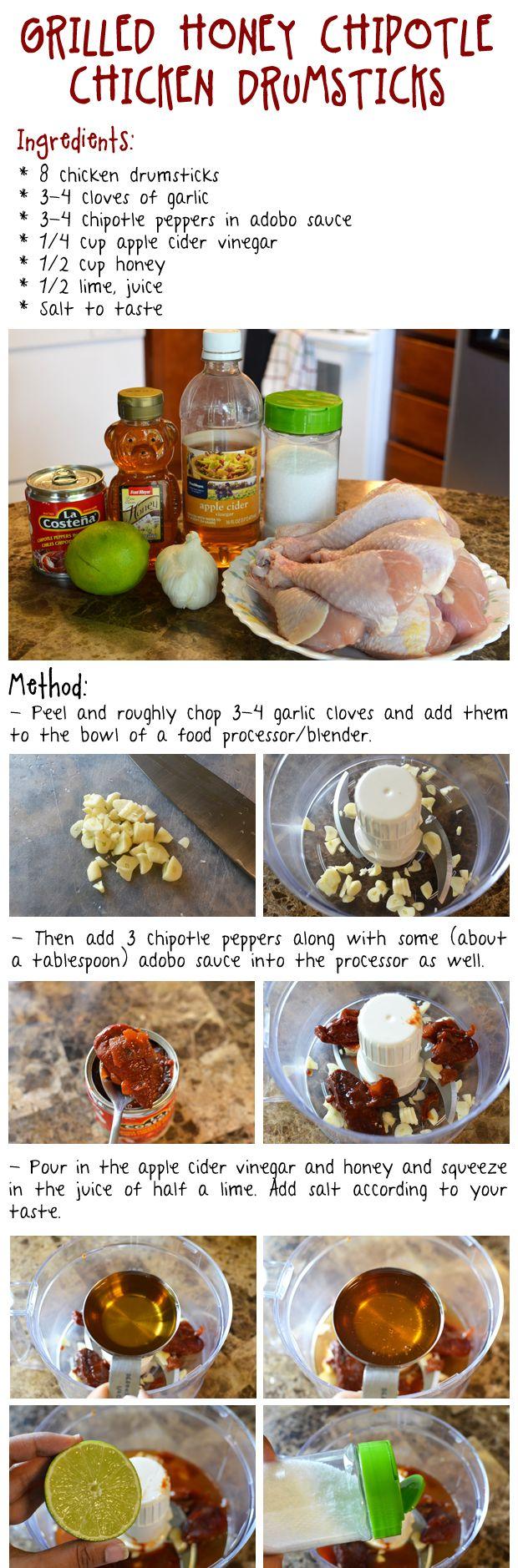 Grilled Honey Chipotle Chicken Drumsticks