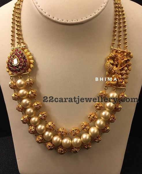 3 Layer Beads Necklaceby Bhima Jewels - Jewellery Designs