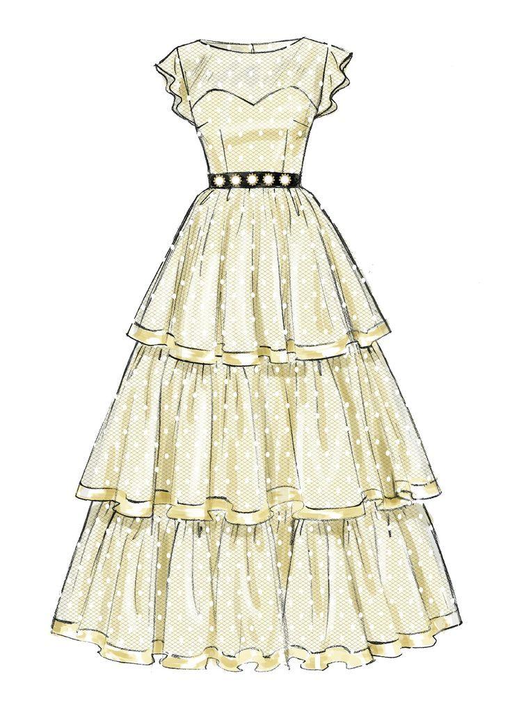 M6646 | Misses / Womens ausgestellte Sweetheart-Ausschnitt Kleider Schnittmuster   – Healthy meal prep