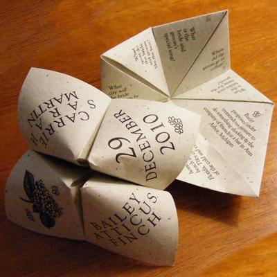 Conversation starter: wedding origami