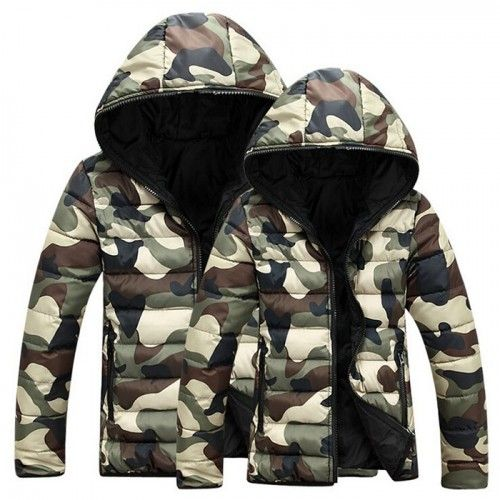 Doudoune Homme Camouflage Style Army