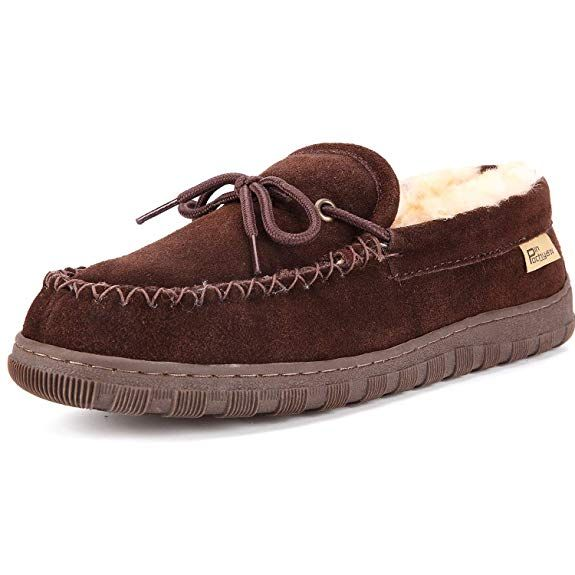 07019fbeedb8 Pinpochyaw Men  moccasins  Slippers Slip On Shoes with Cow Suede  Sheepskin