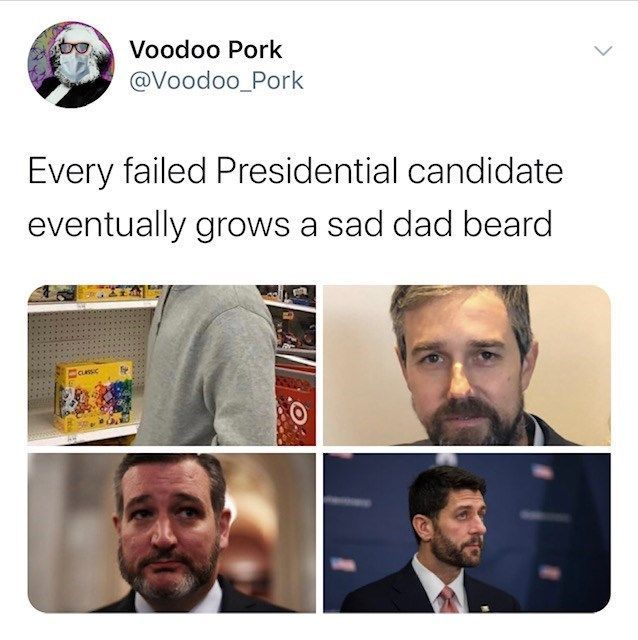 Failed Candidate Beards Inspire Twitter Thread Of Zingers And Photoshops Funny Tweets Seriously Funny You Funny