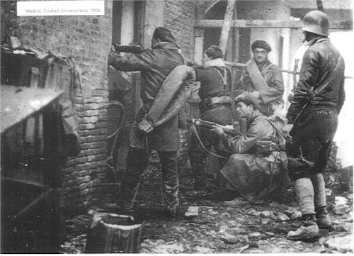 Spanish civil war - Madrid, University City, 1936