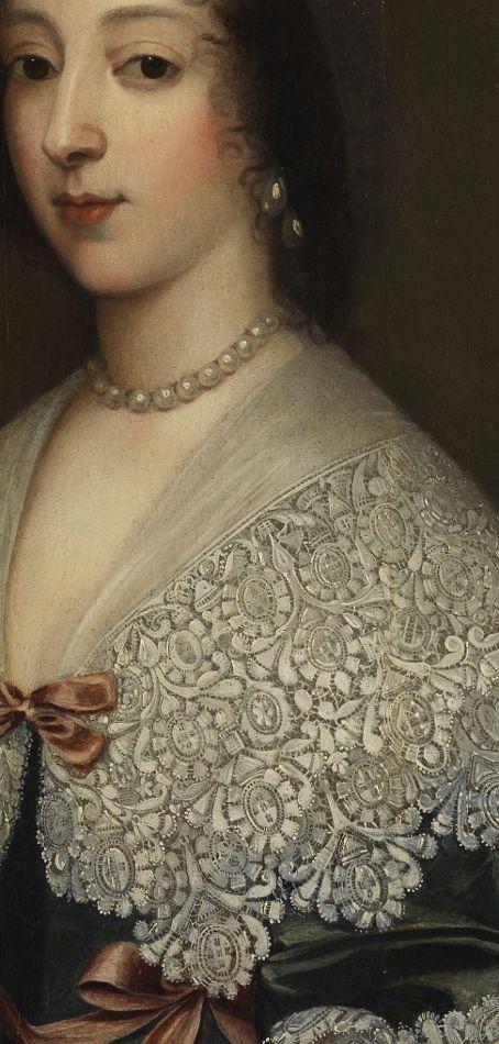 English Queen (detail), Cornelis Jonson van Ceulen