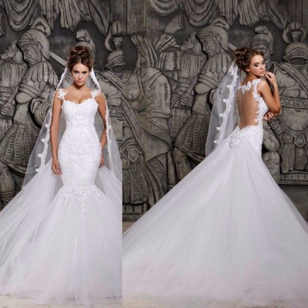 Simple Simple Strapless A line Satin High low Wedding Dress